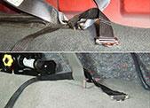 Straps simply loop through seat belt brackets