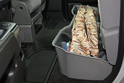 DU-HA Underseat Storage / Gun Case - By placing your rifles and shotguns in Dri-Hide gun protectors first, then placing them in the DU-HA, you create the perfect environment for storing your guns in your truck. The Dri-Hide's allow moisture to evaporate out - not in, which helps protect your guns from rust and corrosion.