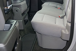 DU-HA Underseat Storage - The DU-HA is available in matching factory interior colors, so it blends in seamlessly with your truck interior and keeps your gear and valuables out of sight and away from prying eyes.