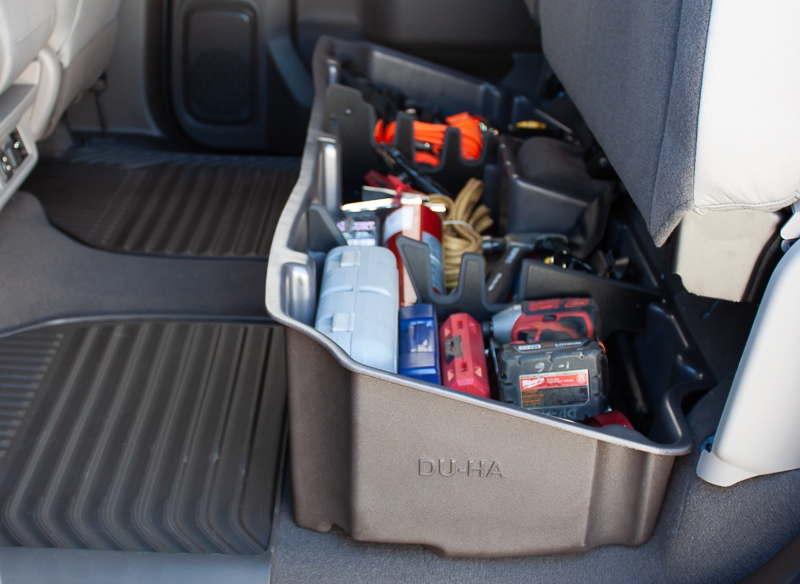 Perfect for the contractor. Don't let your back seat look like this...