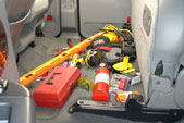 Does your back seat look like this? Take your tools and supplies...