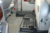 These metal floor trays come installed from the factory underneath your back seats.
