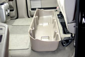 The DU-HA creates a much needed storage area underneath your back seat.