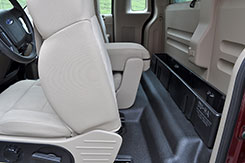 The DU-HA creates a useful storage space behind your existing seat.