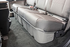 This is how the DU-HA will look installed underneath your back seat.