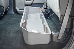 DU-HA Part #20111. The DU-HA fits underneath your existing back seats and provides you with useful, out of sight storage for your gear and guns.