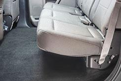 DU-HA Part #20111. Back seat shown with seats down.