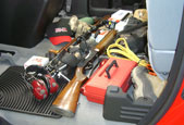 Perfect for the sportsman. Does your back seat look like this?
