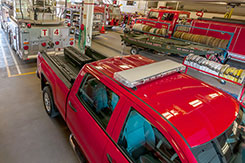 Perfect for fire fighters. The DU-HA TOTE and the Humpstor both fit easily in truck beds at the same time to provide lots of extra storage for emergency gear and essentials. DU-HA  Part # 70103, 70104, and 70200.