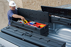 The DU-HA TOTE is ideal for construction workers. Leave it in the back of your vehicle or take it with you on your job site. The wheels make it easy take your tools in with you. DU-HA  Part # 70103 and 70104.