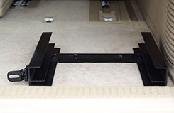 Front view of TOTE Slide Bracket installed in a Suburban.  DU-HA TOTE Slide Bracket - Part # 70104.