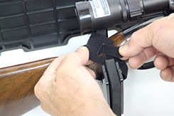 Velcro strips are included to secure your guns to the gun rack to prevent them from bouncing around on rough terrain. The back side of the velcro has a smooth surface so it won't damage guns.