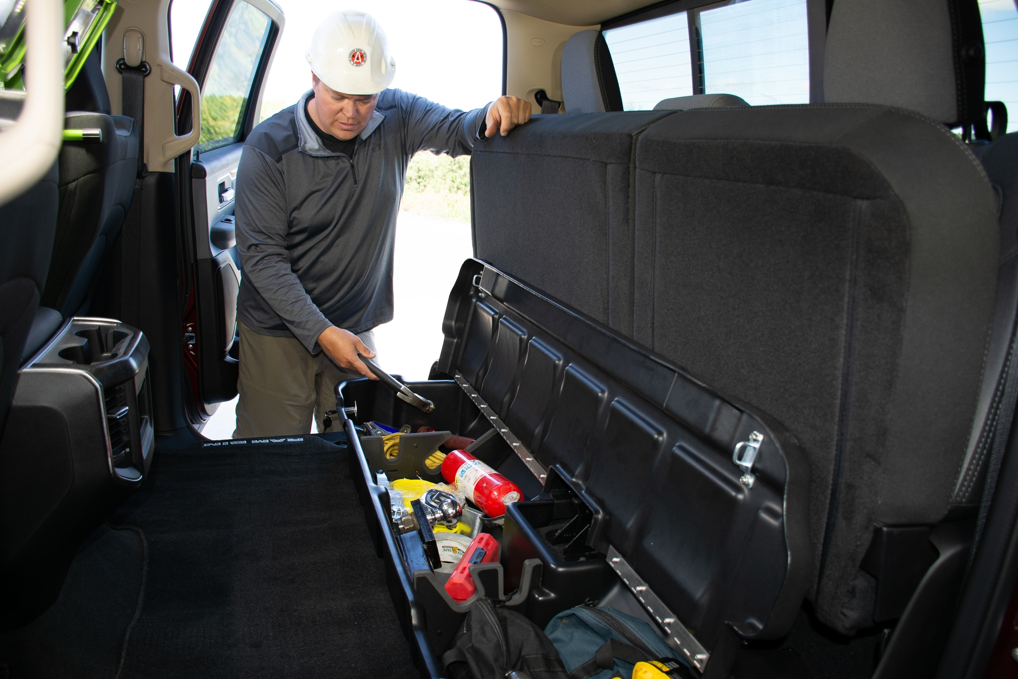 DU-HA Underseat Storage - Store your gear and valuables safely out of sight under your back seat.