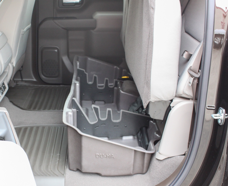Organizers / gun rack inserts are also included at no extra charge. They assemble quickly and are made of soft material so they won't damage guns. These are also easily removable.