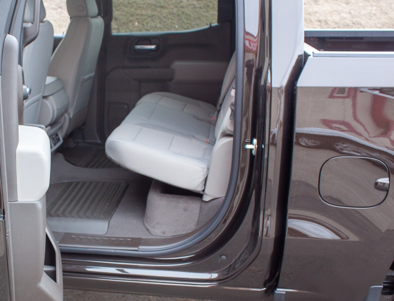 The DU-HA fits underneath the pre-existing back seats of your truck.