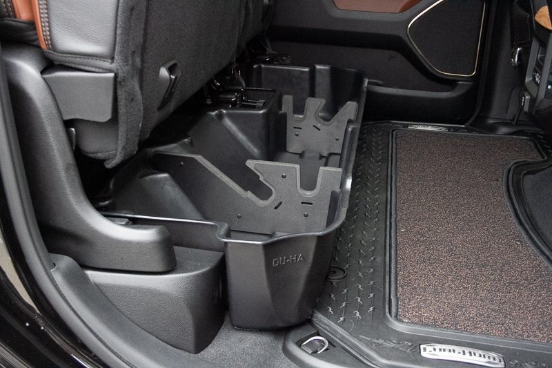 Seats shown with the DU-HA installed
