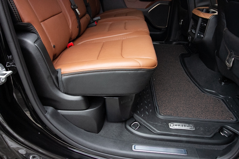 Seats shown in down position