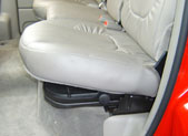 Floor trays shown under the seat