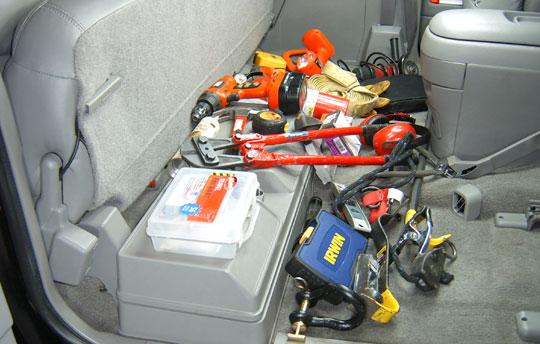 Contractor's messy truck