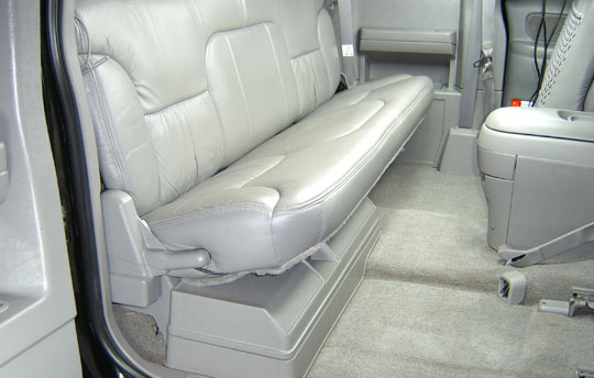 Seat latched down