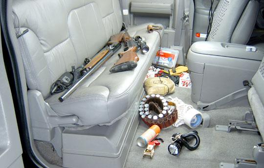 Sportsman's messy truck