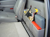Keep your valuables safely hidden behind your backseat