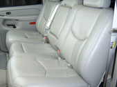 Seats shown latched up