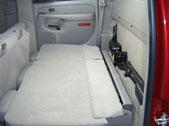 Both back seats folded down