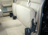 Seat shown in latched up position
