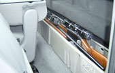 Acts as a legal gun case in most states with seat latched back
