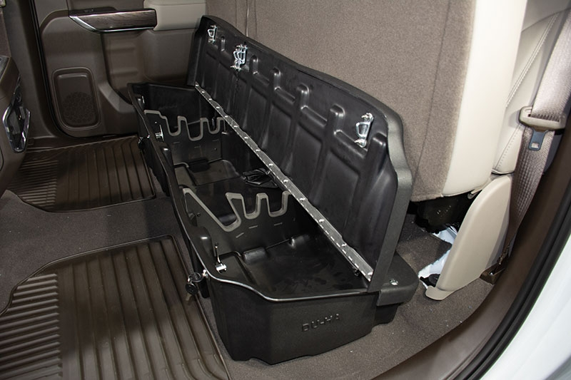 Every DU-HA includes the organizers / gun rack. These assemble quickly and are also easily removable.